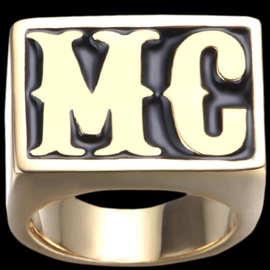 Bague MC Motard Doré (acier)