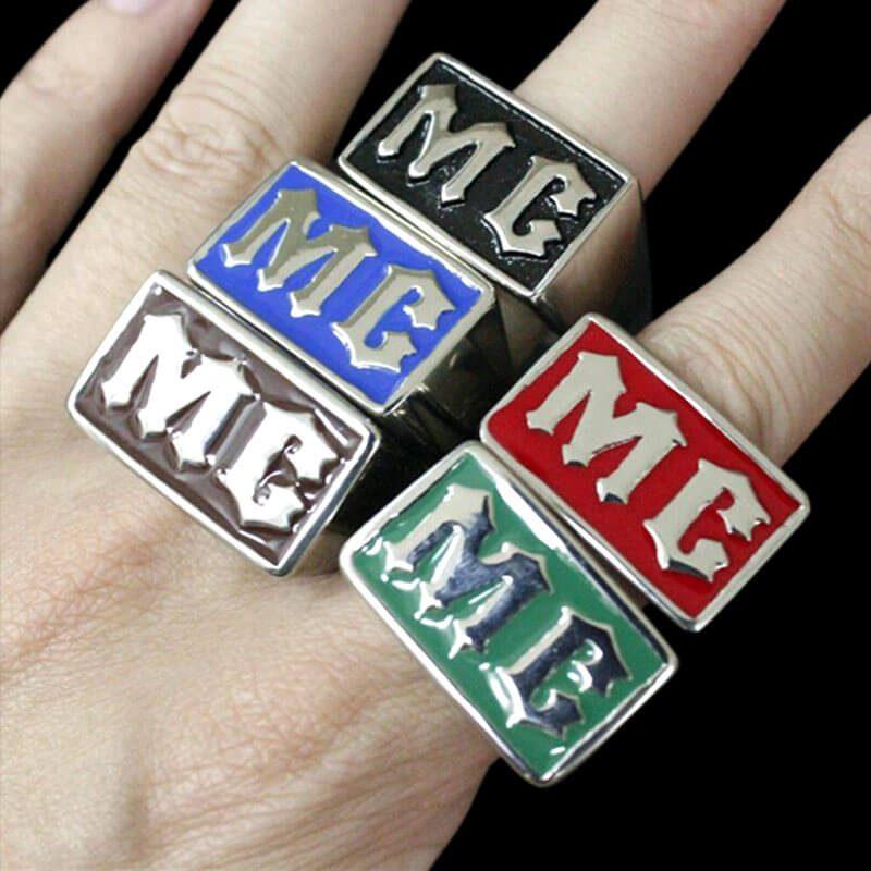 Bagues Moto Club Multicolores (acier)