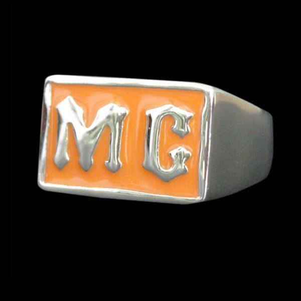 Chevalière MC orange (acier)
