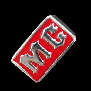 Chevalière MC rouge (acier)