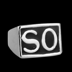 "Bague Motard Sons of Anarchy ""SO"" en Acier"